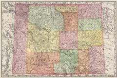 1897 State Map of Wyoming