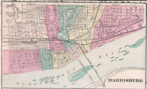 1900 Harrisburg Pennsylvania Ward Map