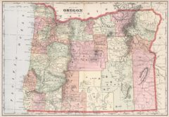 1901 State Map of Oregon