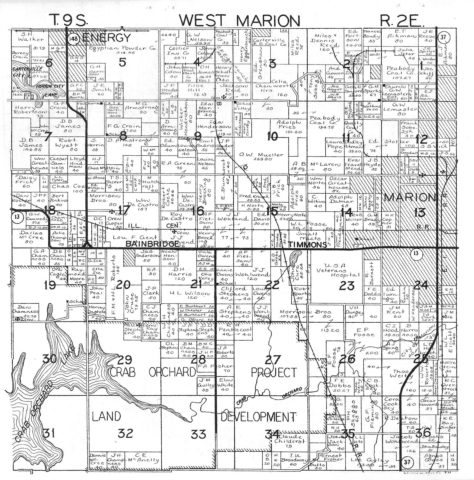 1940 Williamson County Marion Township Plat Map