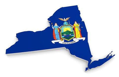 New York State Flag Map