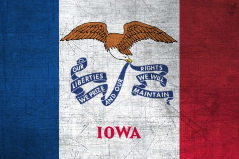 Iowa Flag US State
