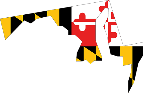 Maryland State Flag Map
