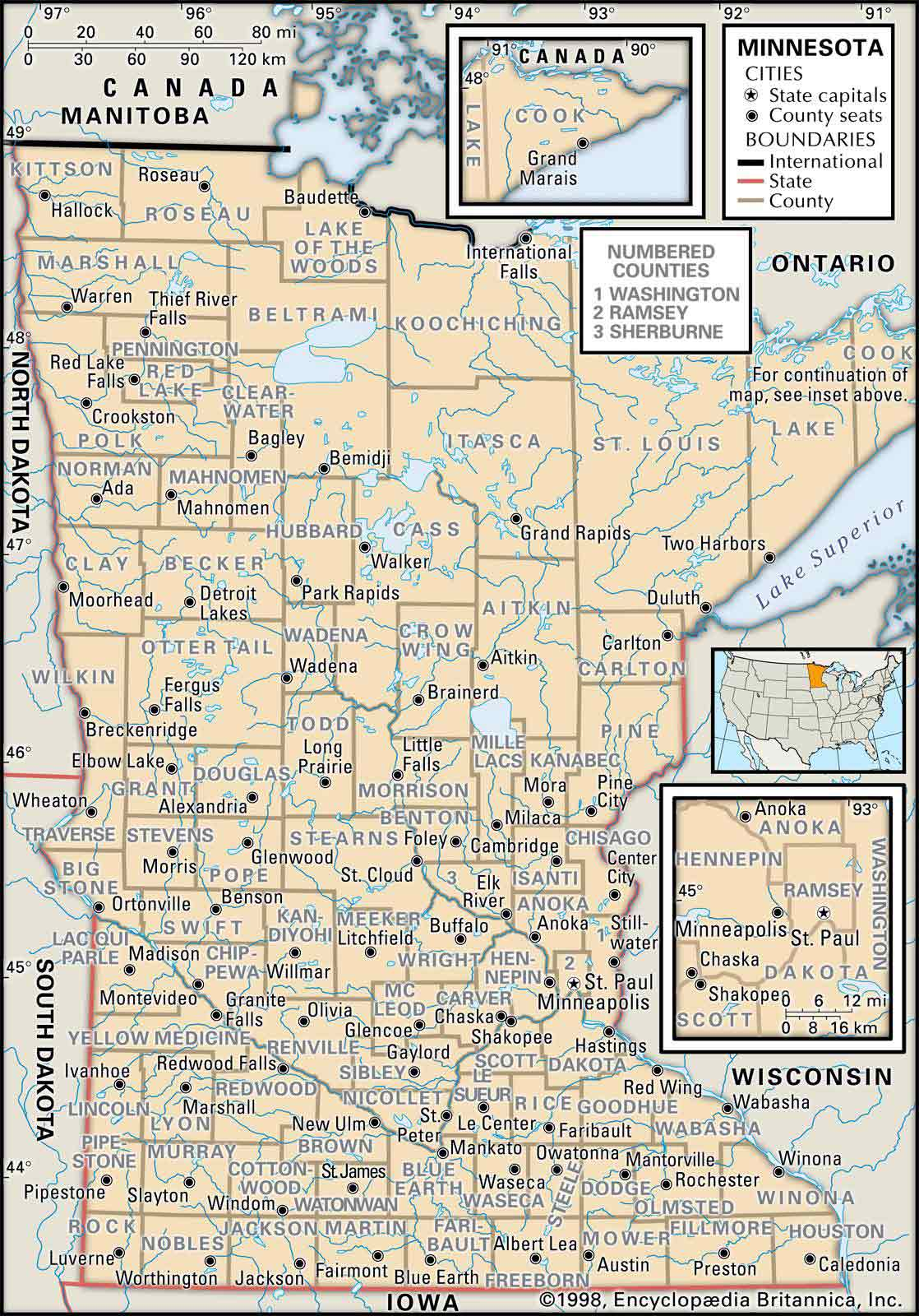 Old Historical City, County and State Maps of Minnesota on new hampshire united states map, minneapolis map, nevada united states map, wage statistics united states map,
