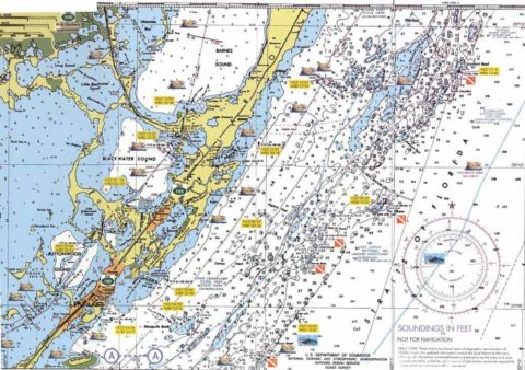 Example of a Navigational Chart Map